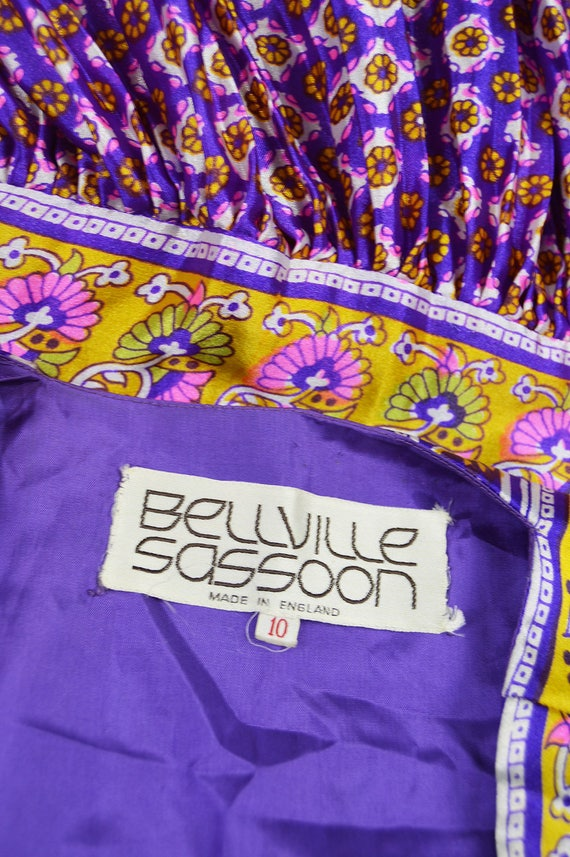 BELLVILLE and Boho Pajama Luxe Kimono Sleeve Purple Trousers Vintage Red amp; Pant Silky 70s SASSOON Dress Suit Piece Suit Day Two Palazzo pROwAg5qR