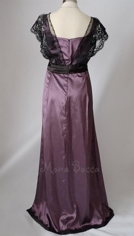 Vestido eduardiano Downton Abbey púrpura amatista vestido eduardiano ...