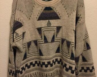 Vintage Jantzen Pyramid Patterned Sweater