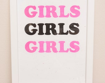 Girls Girls Girls Print