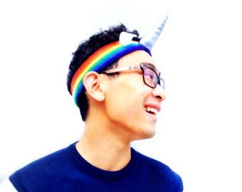 Rainbow Unicorn Headband - Magical Horn Stocking Stuffer