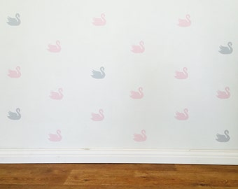 Swan Wall Decals - Removable vinyl wall decals/stickers