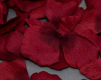 75% Off 200 Two Tone Burgundy Silk Flower Wedding Petals