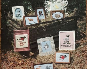 COUNTRY CRADLE Album Baby Animals Country Counted Cross Stitch 1979 Pattern Chart Pamphlet Booklet Leaflet Joyce C. Bailey Vintage Farm