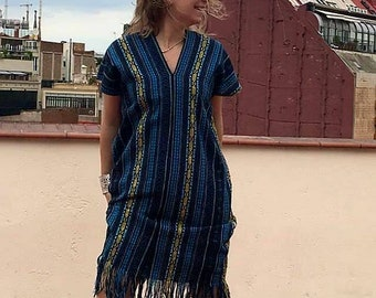 Long striped Poncho