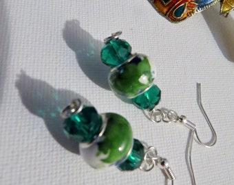 Green Murano earrings #5