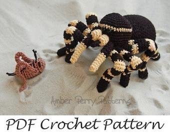 PDF Pattern - Amigurumi Tarantula and Cricket