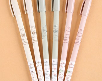 Miffy's Garden Cute Pens / Kawaii Ballpoint Pens / Fine Point Pens / Cute Rabbit Gel Ink Pens / Stationery / Cute Pens / Kawaii Pens