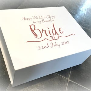 Luxury Extra Large Bride Gift Box | Wedding Morning Bride Box | Beautiful Bride | Personalised Bride Box | Wife To Be | Secret Message Box