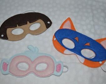Dora inspired felt mask