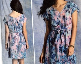Vogue Rebecca Taylor American Designer Pattern 1395 PULLOVER DRESS w/Overlay Misses Sizes 16 18 20 22 24
