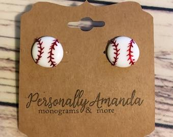Custom Baseball Earrings (Add a Jersey Number!)