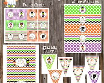 INSTANT DOWNLOAD - Halloween Birthday Party Package Printable