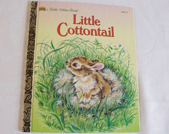 Vintage Little Golden Book Little Cottontail hardback book