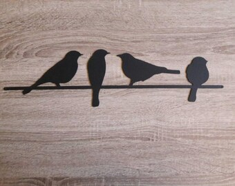 Metal Bird Wall Art, Birds on a Wire Wall Art, Metal Wall Art, Black Birds Wall Art