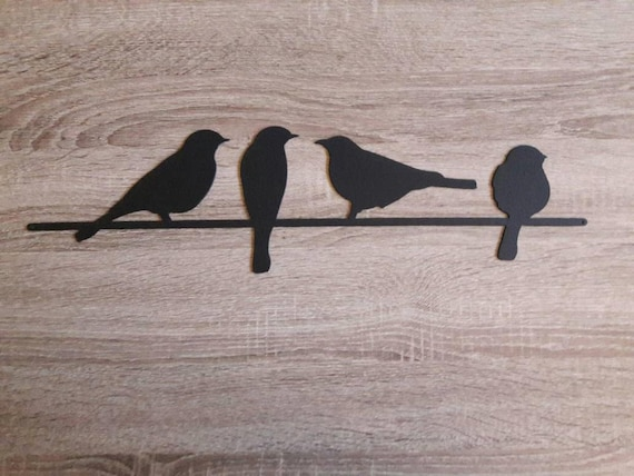 Very Metal Bird Wall Art Birds on a Wire Wall Art Metal Wall Art YF88