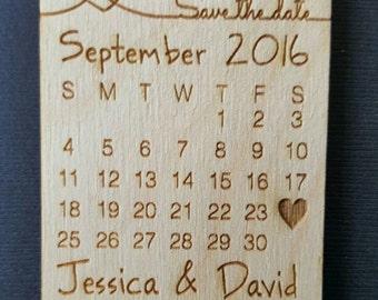 Wedding Favor, Calendar Wedding Favor Magnets,   - Bride, Groom, Gift, Save the Date, Rustic, Custom