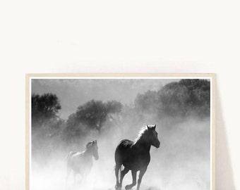 Galloping Horses, EquestrianArt, Horse Art, Horse Poster, Printable Art,  Home Decor, Wall Decor, Instant download
