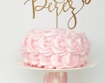 Wedding cake topper, wedding cake topper rustic, cake toppers for wedding, unique wedding cake topper, rustic wedding cake topper, gold