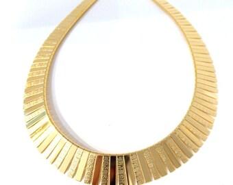 Gold Vintage  Cleopatra Necklace