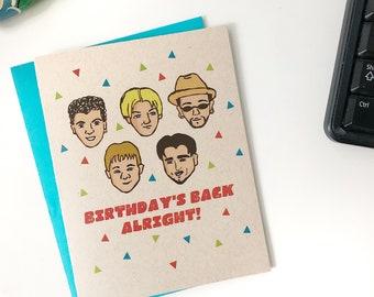 Backstreet Boys Birthday Card, BSB Card, 90s Pop Card, 90s party, Backstreets Back