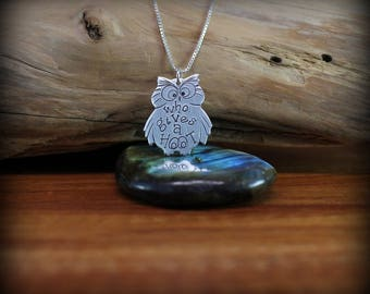Who gives a hoot owl necklace, Owl necklace, funny owl