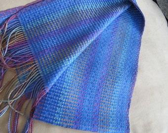 Tencel (wood pulp) handwoven scarf