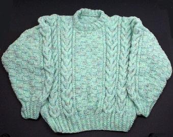 Ladies Cable Sweater - Aran Tweed
