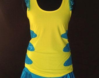 Reserved order for Leigha: Flounder inspired running outfit and arm sleeves