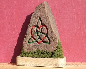 Celtic Triquetra-Heart Standing Stone