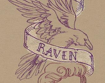 Handmade embroidered The Raven- Edgar Allan Poe Scarf