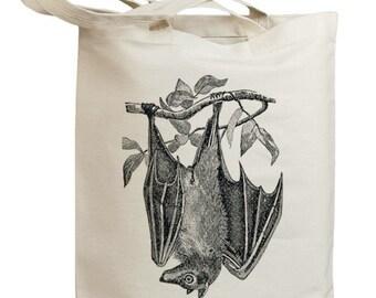Vintage Bat Eco Friendly Canvas Tote Bag (id0146)