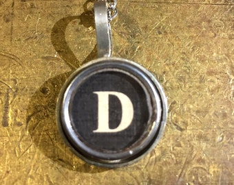 D Typewriter Key Pendant