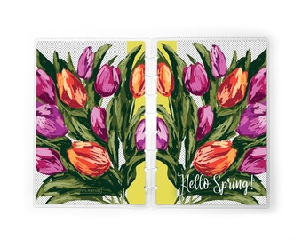 Spring Tulips Floral Planner Cover   for use with Erin Condren Lifeplanners™, Staples® Arc, The Happy Planner™, and TUL™   Easter