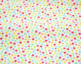 Remnants - Hundreds and Thousands in White - from Lolly by Maude Asbury for Blend Fabrics - BLL271, BHT2241