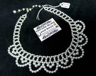 44-52cm vintage collar necklace, pearl collar necklace, vintage faux pearl necklace, vintage necklace, vintage wedding necklace, bride
