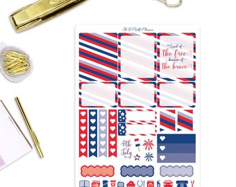 FOURTH OF JULY Planner Stickers