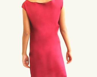 Red loose dress , Simple dress women , Handmade dress women , Cute dress for women , womens dresses , Red dress women ,
