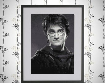 Instant Download -  Cross Stitch Pattern - Harry Potter Series - Harry