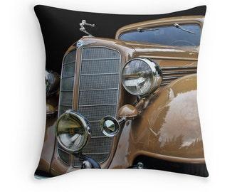 Car Pillow, Car Decor, Car Gifts, Old Cars, Hood Ornaments, Old Car Decor, Car Cushion, Antique Cars, Vintage Cars, Buick Victoria, 1930s