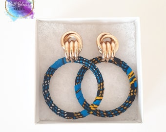 Earrings made with african fabric, ankara earrings, gift for women