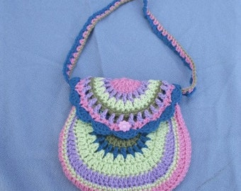 Child's Colourful Crochet Bag