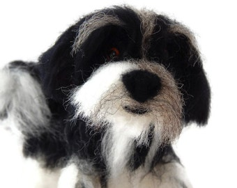 Personalised Dog Sculpture, Needle Felted Dog - Custom Havanese art, Tibetan terrier art,  or any breed, Dog lover gift,  Made To Order