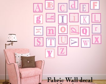 Alphabet Wall Decal Repositionable Wall Decal ABC Wall Decal perfect decoration for nursery or playroom-extra large