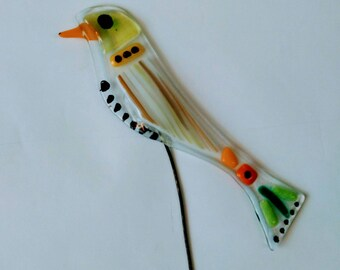 Bird Glass Decor, Sun catcher , Office, Design, Home Decoration, Gift, Fusing, Free Shipping