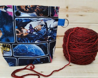 Star Wars Ball Sack for up to DK Weight -- Yarn Holder for Inside Project Bags Handmade