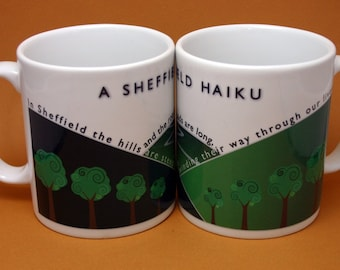 Sheffield Mug - Sheffield Haiku Mug - Poetry Mug - Sheffield Hills