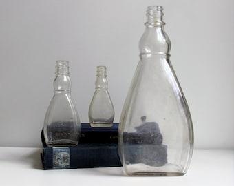 Set of Three Pear Shaped Vintage bottles