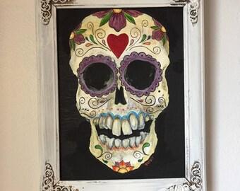 Sugar Skull series - original painting