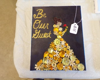 Button Canvas Princess Belle